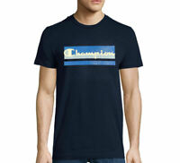 NWT CHAMPION AUTHENTIC LOGO MEN'S SHORT SLEEVE NAVY BLUE TEE T-SHIRT SIZE XL