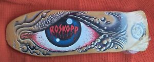NOS Vintage Santa Cruz Rob Roskopp Skateboard Deck in Plastic The Eye