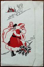 Vintage Father Christmas, Christmas and Photograph Frame Card