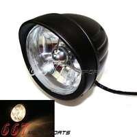 4.5'' Custom Billet Black Headlight Halogen Light Fit Harley Davidson Motorcycle