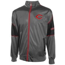 Cincinnati Reds Tricot Track Jacket 3XL Full Zip Charcoal Majestic Athletics MLB