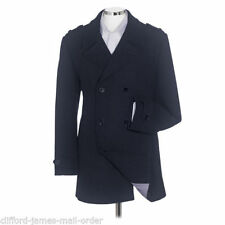 Peacoat Wool Double Breasted Regular Coats & Jackets for Men