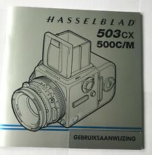 HASSELBLAD 503CX 500C/M instruction manual (in Dutch: gebruiksaanwijzing)