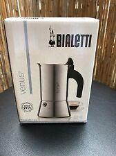 Bialetti Venus 2 Espresso Kocher Cafeteria Kaffee Gasherd Elektro NO INDUKTION!