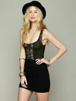 New Free People Womens Cutwork Seamless Crop Cami Stretchy Tank Top Xs-L $48