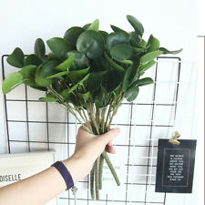 1 Pcs Green Artificial Leaves Plant Branches Eucalyptus Grass Home Office Decor