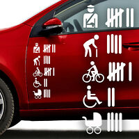 Auto Aufkleber 2er Set Strichliste groß Abschuss Sticker DUB OEM JDM Tuning 845