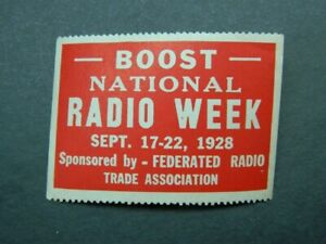 Poster stamp Cinderella National Radio Week Boost 1928