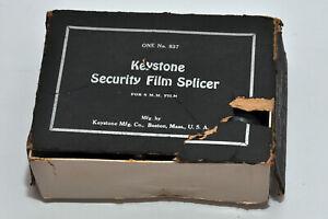 Vintage Keystone Boston Security Film Splicer with Wooden Base