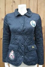 Pauls Boutique Women's  Cotton Pink Navy Jacket Coat Size small  8-10 Celebs Fav