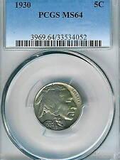 1930 Buffalo Nickel : PCGS MS64