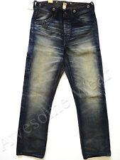 New Ralph Lauren RRL Distressed 100% Cotton Buckleback Overall Jeans sz 34 x 32