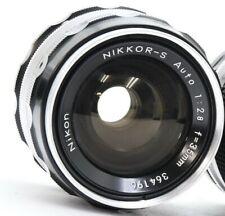 Nikon Nikkor-S Auto 35mm f/2.8 Non-Ai Wide Angle Lens Very Good No. 364196