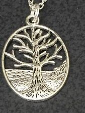 """Tree of Life on the Mountain Charm Tibetan Silver with 18"""" Necklace BIN"""