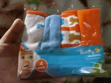 CLOSEOUT SALE! Imported From USA! Safety 1st Washcloth 4 Pcs B #3