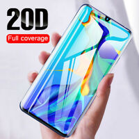 For Huawei P30 Pro P20 Lite 20D Full Curved Tempered Glass Screen Protector Film