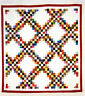 "Triple Chain - pieced quilt PATTERN for 2.5"" strips - Cozy Quilts"
