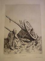 Alphonse LEGROS (1837-1911) Gravure EAU FORTE ORIGINALE BARBIZON REALISME 1876