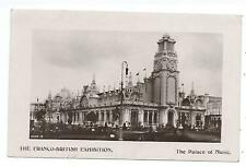 FRANCO BRITISH EXHIBITION, LONDON 1908 - PALACE OF MUSIC Real Photo Postcard