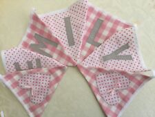 Cath Kidston  personalised bunting -CHRISTENING baby girl/gift £10 for 5 flags