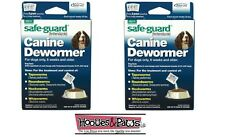 2 Packs of 8in1 20LB SAFEGUARD DEWORMER MEDIUM DOG WORMER WORM FENBENDAZOLE