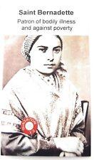 Saint Bernadette Soubirous Relic Carte Lourdes,France,Bergers,Poverty