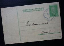 Slovenia 1954 Yugoslavia CIRKULANE Rare Cancel Postal Stationery To Ormoz  C1