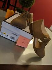 Nine West Flat brown suede like shoes Size 5 1/2