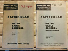 Caterpillar No 24 30 Cable Control Operation And Maintenance Instructions 50s