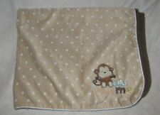 Just One You by Carter's Monkey Turtle Love Me Baby Blanket Tan White Polka Dot