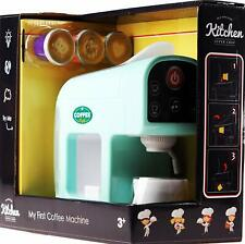 Light & Sound Coffee Machine Kitchen Role Play Toy With Pretend Coffee Capsules