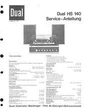 Dual Service Manual für HS 140