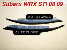 Carbon Fiber Car Upper Eyelid Eyebrow For Subaru Impreza WRX STI 2008 2009 TU