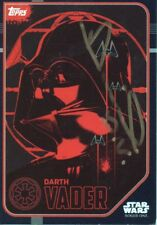 STAR WARS personally signed Topps card (90) - DANIEL NAPROUS as DARTH VADER