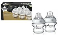 6 x Tommee Tippee Closer to Nature Baby Bottles 150ml Slow Flow Anti-Colic 0m+