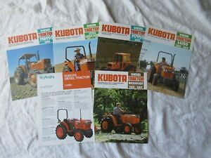 Kubota tractor brochure lot of 6