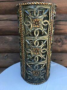 MID CENTURY MEDITERRANEAN SCROLLED LAMP SHADE - Gothic Shade