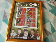 Framed ELVIS Movie Collection 1962 - 1964 LE SMILER Stamp Sheet with Benham COA