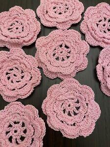 Crochet Flowers - Lot Of 20 Flowers