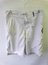 mens VOLCOM cream colored swim trunks shorts sz 34 skateboard surf beach clean