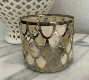 Bath & Body Works 14.5 oz 3-wick Large Candle Holder Capiz Sea Shell