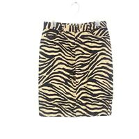 Ralph Lauren Womens sz 4 Tan Black Zebra Print Knee Length Pencil Skirt Career