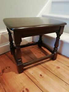 Vintage ERCOL Old Colonial Solid Elm Golden Dawn Side / End Table - CIS W51
