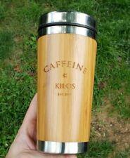 Caffeine & Kilos Wood Panel Coffee Rambler Travel Mug
