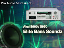 Akai s900 & S950-Elite bass échantillons 8x disquettes-Real bass & Synth Bass