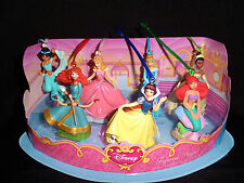 NEW Disney Princess Christmas Ornaments Figure 7  Set Jasmine Brave Aurora Tiana