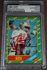 JERRY RICE Signed 1986 Topps RC Red Ink Auto PSA/DNA Slabbed 49ers Autograph