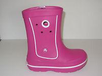 NEW Girls CROCS Crocband Jaunt Rain Boot Galoshes Shoes 8/9 10/11 12/13 1 2 3