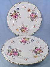 2 Royal Crown Derby Posies Dinner Plates Flowers Porcelain Posie Ely HELP As Is