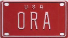 ORLY USA RED Vintage Mini License Plate  - Name Tag - Bicycle Plate!